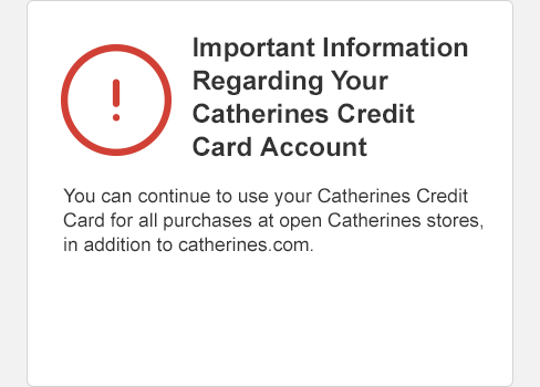 manage catherines credit card